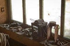 Dentro di una tettoia dello strumento di eredità Immagine Stock