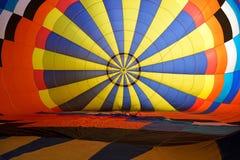 Dentro do ar quente do balão fotografia de stock