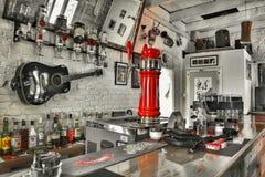 Dentro do bar Fotografia de Stock Royalty Free