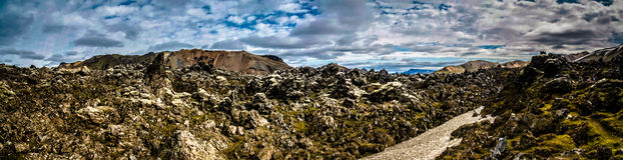 Dentro do campo de lava do laugahraun Fotografia de Stock Royalty Free