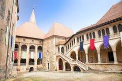 Dentro do castelo de Hunyad. Romania Imagem de Stock Royalty Free