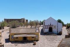 Dentro do castelo do marim de castro da cidade fronteiriça imagens de stock