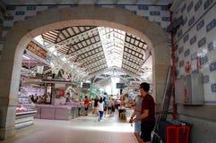 Dentro do ` central de Mercat do ` marcado famoso em Valência imagem de stock royalty free
