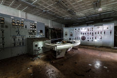 Dentro do central elétrica abandonado Fotografia de Stock Royalty Free