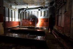 Dentro do central elétrica abandonado Imagens de Stock