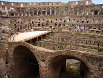 Dentro do Colosseum Fotografia de Stock Royalty Free