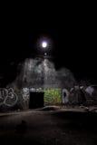 Dentro do depósito de gasolina subterrâneo abandonado Imagem de Stock