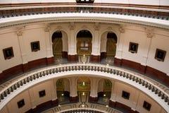 Dentro do edifício do Capitólio do estado em Austin da baixa, Texas imagem de stock