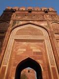 Dentro do forte vermelho em Agra, India Imagens de Stock