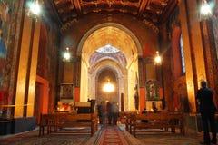Dentro do histórico o Catthedral arménio Imagens de Stock