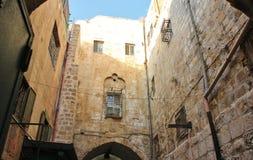 Dentro do Jerusalém velho da cidade Fotografia de Stock