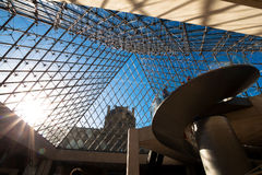Dentro do Louvre, Paris Foto de Stock Royalty Free