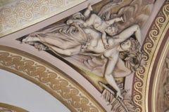 Dentro do Louvre, Paris Imagem de Stock