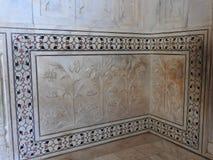 Dentro do mausoléu de Taj Mahal em Agra, Índia, herança do UNESCO, construída 1632-1653 fotos de stock royalty free