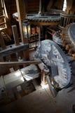 Dentro do moinho de vento, Zaanse Schans, Holland Foto de Stock Royalty Free