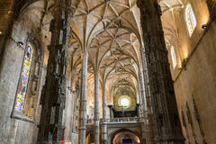 Dentro do monastério de Jeronimos (Lisboa, Portugal) Imagens de Stock Royalty Free