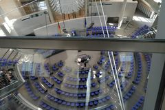 Dentro do parlamento Berlin Germany de Bundestag imagem de stock
