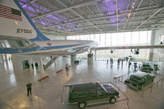 Dentro do pavilhão de Air Force One Fotos de Stock Royalty Free