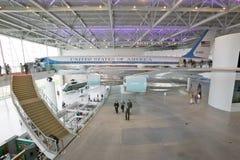 Dentro do pavilhão de Air Force One Imagens de Stock Royalty Free