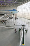 Dentro do pavilhão de Air Force One em Ronald Reagan Presidential Library e no museu, Simi Valley, CA Imagem de Stock Royalty Free