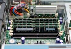 Dentro do PC do servidor Imagens de Stock