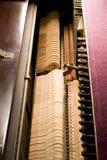 Dentro do piano Fotografia de Stock Royalty Free