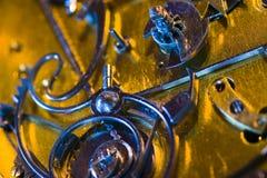 Dentro do relógio de bolso velho Foto de Stock