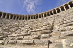 Dentro do teatro de Aspendos Imagem de Stock Royalty Free