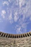 Dentro do teatro de Aspendos Imagens de Stock Royalty Free