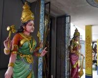 Dentro do templo hindu Fotografia de Stock