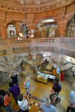 Dentro do templo Jain Forte de Jaisalmer Rajasthan India fotografia de stock