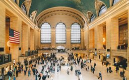 Dentro do terminal de Grand Central em Manhattan, New York City imagens de stock royalty free
