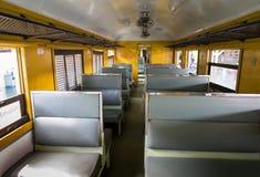 Dentro do trem Fotografia de Stock