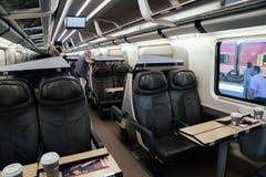 Dentro do trem em Roma, Itália imagens de stock royalty free