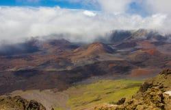 Dentro do vulcão do  de HaleakalÄ fotografia de stock