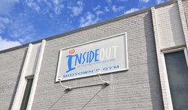 Dentro - fuori la costruzione della palestra, Memphis TN Immagine Stock