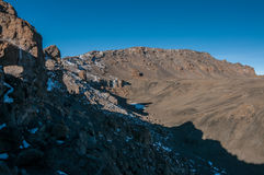 Dentro il cratere di Kilimanjaro Immagini Stock Libere da Diritti