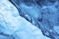Dentro il dettaglio del ghiacciaio Immagine Stock