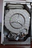 Dentro il fusto e le parti di lavatrice fotografia stock