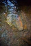 Dentro il vulcano Fotografie Stock