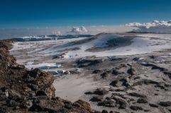 Dentro l'orlo del cratere, Kilimanjaro Fotografia Stock