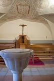Dentro la cappella di un santuario Immagini Stock