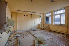 Dentro la casa distrutta Immagini Stock Libere da Diritti