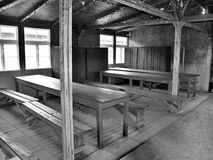 Dentro la caserma del campo di concentramento nazista Fotografia Stock