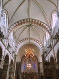 Dentro la cattedrale immagini stock