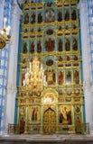 Dentro la cattedrale di resurrezione nel nuovo monastero di Gerusalemme, Ru Immagine Stock