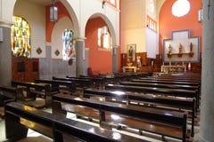 Dentro la cattedrale moderna di Cañete a a sud di Lima Immagine Stock