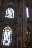 Dentro la chiesa di Lorenz del san norimberga germany fotografie stock