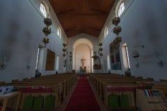 Dentro la chiesa di Nynashamn, Stoccolma, Svezia Fotografia Stock Libera da Diritti