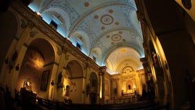 Dentro la chiesa di San Felipe de Neri nella città di Panamá Fotografia Stock Libera da Diritti